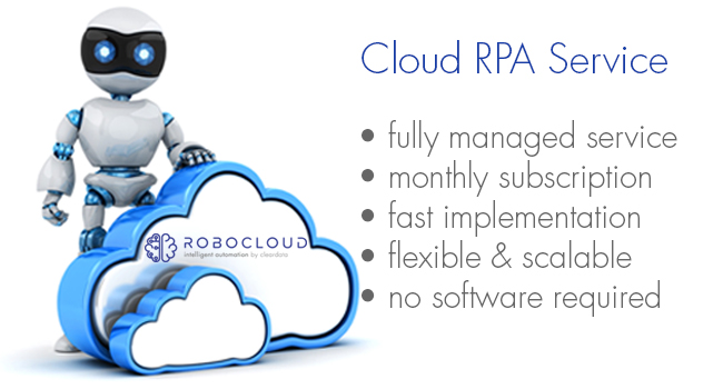 RPA services provided by Robocloud